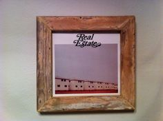 Handmade Vintage Shabby Chic Record Frame