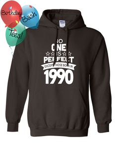 26 Year Old Birthday Hoodie No One is Perfect by BirthdayBashTees