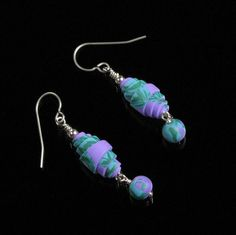 Rolled Bead Dangle Earrings  Drop Earrings  by mindfulmatters