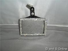 I.D. BADGE HOLDER WITH BLING CLEAR