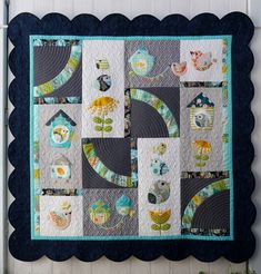 BirdSong Applique Quilt Pattern for a brother Scan and Cut cutting machine - Instant Download