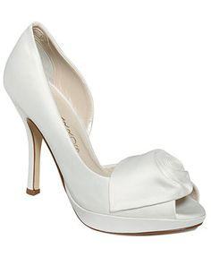 ff956e82f8625 Macys 69.99 Caparros Baldwin Evening Platform Pumps Not too fond of the  rose White Wedding Shoes
