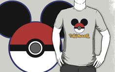 PokeMouse T-Shirt by Adam de la Mare  This fun t-shirt is for all you fans of both Pokemon… and Mickey Mouse! ...Available online at www.brotheradam.com.au ... The best place for funny, cool, parody, geek, topical, music, retro and just plain ridiculous t-shirts!