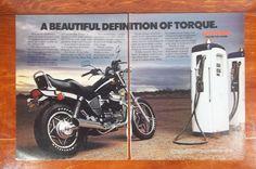 Vintage Honda motorcycle magazine ad.