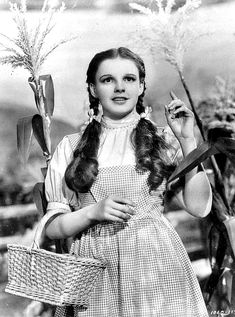 Gilbert Adrian costume for Judy Garland in The Wizard of Oz directed by Victor Fleming, 1939