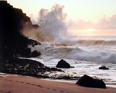 Simply Outstanding! This Charming sunset Ocean waves crashing on rocky cliffs art print poster will bring a feel of tropical paradise into your home. This beautiful wall poster adds a unique style to your room setting and goes with all décor style. You'll surely enjoy viewing this poster at every moment you look at it. Order this poster today for its durable quality and perfect color accuracy.