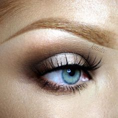 Touch of Glam by kitulec ... Products Used: Makeup Geek Eye Shadows in Latte, Mocha, Preppy, Shimma Shimma, and Vanilla Bean.