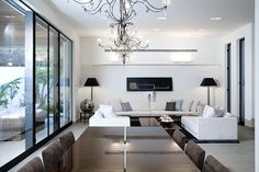 Lev-Gargir Architects / modern residential house  #living_room #interior_design #dining_table
