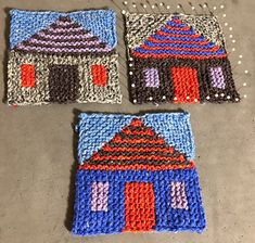 Fair Isle Knitting Patterns, Easy Knitting, Baby Knitting Patterns, Loom Knitting, Knitting Stitches, Crochet Patterns, Crochet Diagram, Crochet Chart, Crochet Motif