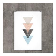 free printables freebie scandinavian design triangles free posters