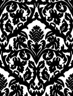 Black and white patterned wallpaper.
