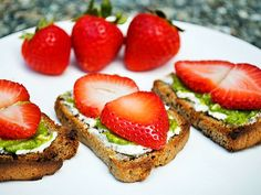 Strawberry, Goat Cheese, and Pesto Bruschetta: Now that's a sweet twist http://www.ivillage.com/basil-ready-harvest-12-fresh-pesto-recipes-make-summer/3-a-540916