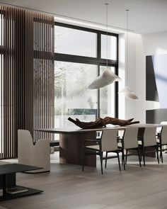 A seaside dream house in Bulgaria. Featuring an interior fusion of modern Japanese minimalism, Bauhaus, and ethnic decor that is native to South Africa. Bauhaus Interior, Interior Architecture, Ethnic Decor, Luxury Dining Room, Dining Rooms, Japanese Interior, Coffee Table Design, Living Room Lighting, Land Scape