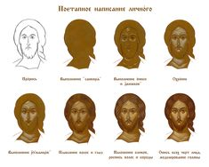 Byzantine Icons, Byzantine Art, Step By Step Painting, Step By Step Drawing, Writing Icon, Jesus Drawings, Paint Icon, Religious Paintings, Religious Icons