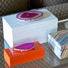 Times Two Design Agate Lacquered Box @LaylaGrayce