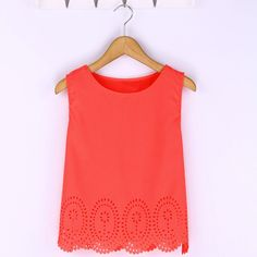 Cheap vest cotton, Buy Quality chiffon embroidery directly from China chiffon trim Suppliers: 6 Colors ZANZEA 2017 Summer Style Women Cropped Top Chiffon Tank Sleeveless Hollow Out T-shirt Plus Size Casual Blusa Feminina Fashion Magazin, Casual Skirt Outfits, Work Outfits, Casual Tops For Women, Ladies Tops, Plus Size Casual, Women's Summer Fashion, Style Fashion, Ladies Fashion