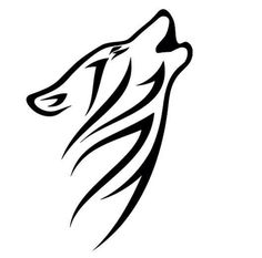 Tribal Wolf Head Die-Cut Decal Car Window Wall Bumper Phone Laptop