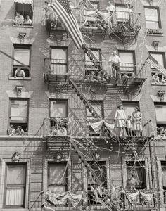 New York City Photo, Little Italy Parade, Housewarming Gift, Artwork for Apartment, black white print