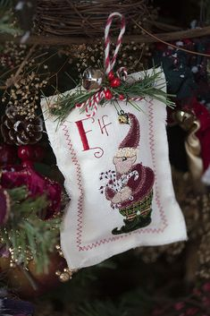 Add a touch of embroidered whimsy to your Christmas tree with this soft ornament.