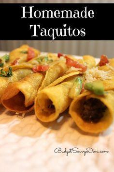 Homemade Taquitos, #Gluten, #Homemade, #Simple