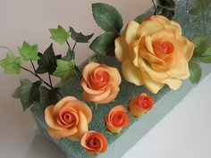 Gumpaste Roses by cakeboxsoc, via Flickr