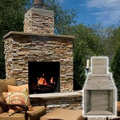 Outdoor Fireplace Kits | Easy to Assemble, Outdoor Fireplace Kit Brands | Perfect Outdoor, Buschbeck & Napa Outdoor Fireplaces