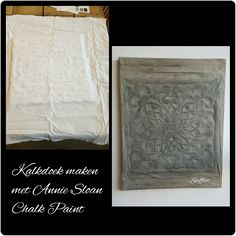 Kalkdoek gemaakt met Annie Sloan Chalk Paint en Black Wax Annie Sloan, Wabi Sabi, Textured Walls, Chalk Paint, Wall Textures, Sober, Crafts, Inspiration, Cement