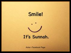 Smile! It's Sunnah.
