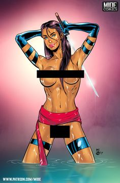 Superheroes Psylocke Xmen #psylocke #xmen #sexy #holdingsword  #cartoon #female #lady #woman #girl #drawing