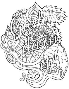 Granny Swears: An Adult Coloring Book With Swears Grannies Would Say