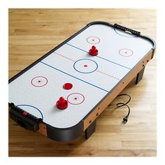 Tabletop air hockey game. Fun!