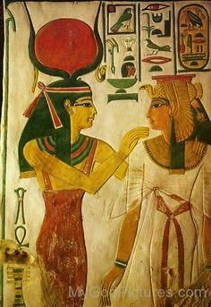 Goddess Hathor And Nofretari-jk207
