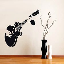 Guitar Music Mural Removable Wall Sticker Art Vinyl Decal Home Room Decoration