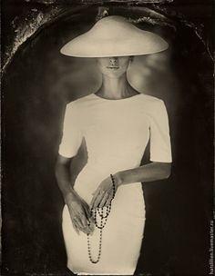 """Купить Шляпа в стиле """"Dior"""" - белый, шляпа с большими полями, шляпа, шляпа на заказ, скачки"""