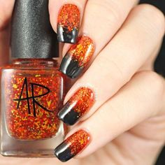 """If you're unfamiliar with nail trends and you hear the words """"coffin nails,"""" what comes to mind? It's not nails with coffins drawn on them. Although, that would be a cute look for Halloween. It's long nails with a square tip, and the look has. Beautiful Nail Designs, Simple Nail Designs, Beautiful Nail Art, Gorgeous Nails, Pretty Nails, Beautiful Beautiful, Halloween Nail Designs, Halloween Nail Art, Creepy Halloween"""