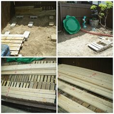 Redneck Pallet Deck - Projects to Try - Easy Woodworking Projects, Pallet Projects, Pallet Ideas, House Projects, Diy Projects, Pallet Patio Decks, Deck Makeover, Floating Deck, Lawn And Landscape