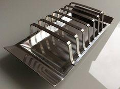 Stainless steel toast rack / 6 slices / Satinsteel London Toast Rack, All In One, Tray, Stainless Steel, London, Breakfast, Design, Morning Coffee