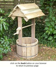 Wishing well-click to get plans