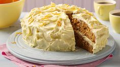 This easy Carrot Cake Recipe with pecan nuts, orange zest, and a touch of cinnamon is delicious with a cup of coffee. Brought to you by Betty Crocker.