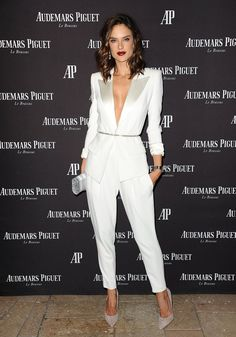 6be142f5d210 There s Nothing Stocky or Business-Like About Alessandra Ambrosio s White  Pantsuit
