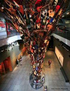 Roots and Branches sculpture 'The Experience Music Project Museum' EMP, is found in Seattle-Downtown-Washington *