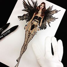 In this fashion drawing tutorial, we are going to learn how to draw black feather. Lingerie Illustration, Illustration Mode, Fashion Illustration Sketches, Fashion Sketches, Illustrations, Arte Fashion, Moda Fashion, Vogue Fashion, Fashion Design Sketchbook
