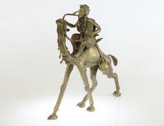 Tuareg Camel Rider #1292 | Figures | Metal — Deco Art Africa - Decorative African Art