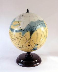 Marsglobus, Mars globe, Marskanäle, Mars and its canals, Percival Lowell, Globus