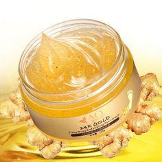 [US$14.84] AFY 24K Essence Gold Ginger Exfoliate Foot Cream Feet Hard Dead Skin Remover Mask #essence #gold #ginger #exfoliate #foot #cream #feet #hard #dead #skin #remover #mask