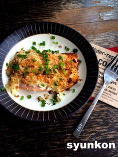 【簡単!!】おすすめです。トースターで*鮭の玉ねぎマヨネーズ焼き   山本ゆりオフィシャルブログ「含み笑いのカフェごはん『syunkon』」Powered by Ameba
