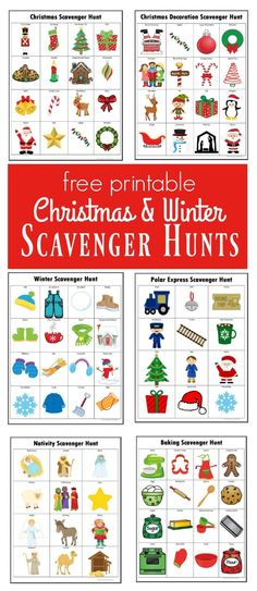 Winter & Christmas Scavenger Hunts {Free Printables} Kids will have a lot of fun doing these winter and Christmas scavenger hunts. Origami Design, Preschool Christmas, Christmas Crafts, Christmas Ideas, Free Christmas Printables, Free Printables, Christmas Scavenger Hunt, Christmas Activities, Winter Activities