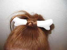 how to do pebbles flinstone hair for halloween