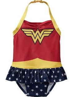 DC Comics™ Wonder Woman Swimsuits for Baby | Old Navy - Faye needs this.