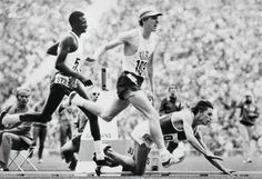 Dave Wottle literally pips the Soviet runner on the line to win the most extraordinary 800m Olympic Final ever, probably. Munich 1972.